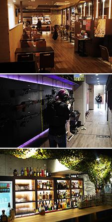 Shooting café & bar AKIBA BASE
