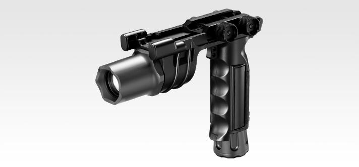 18mmレイル用グリップライト ブラック