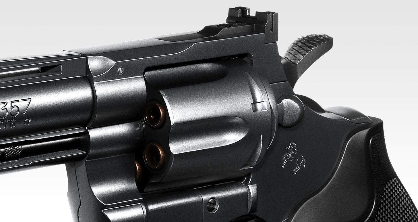コルトパイソン.357マグナム 6インチ ブラックモデル